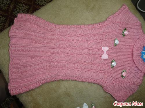 Розовый комплект - туника, гетры, берет