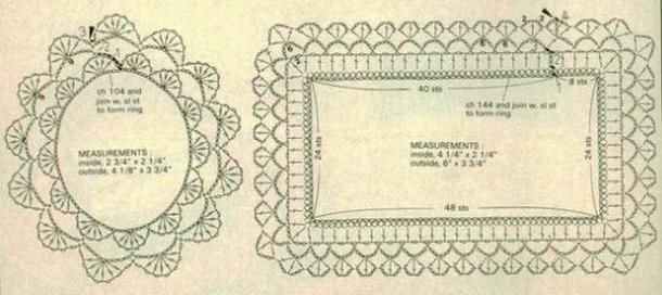 Punto de ganchillo aplicación original