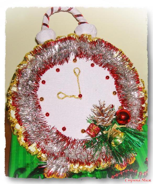 Часы на новый год своими руками фото