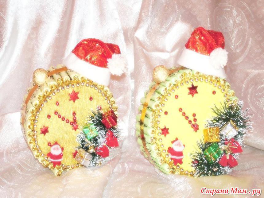 Новогодние поделки своими руками из конфет мастер