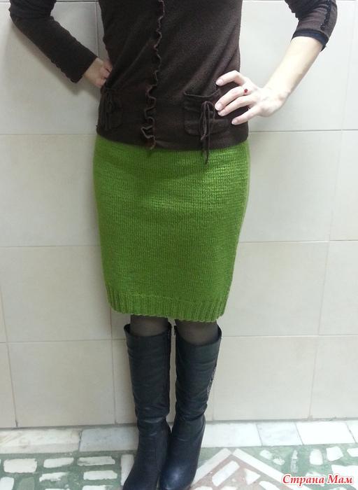 Вязание спицами резинки на юбке