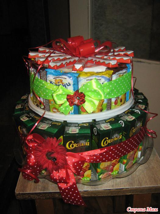 Как сделать на день рождения торт из бумаги 226