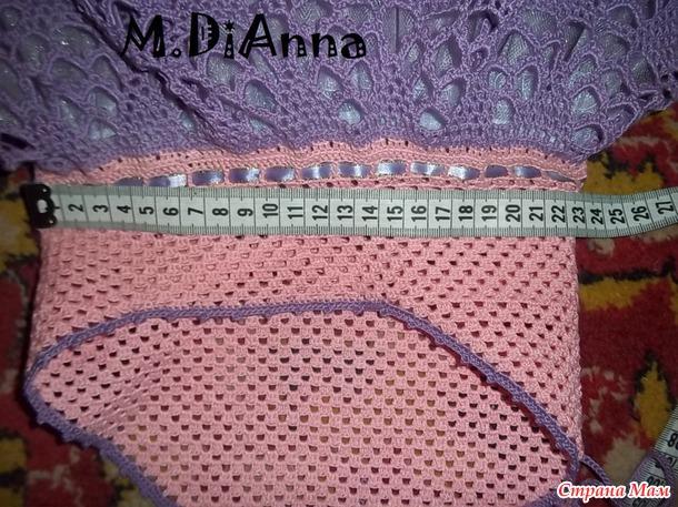 """Процесс вязания платья-""""Цветочная фея"""".(мини МК, или что-то в этом роде)."""