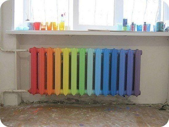Идеи для покраски батареи