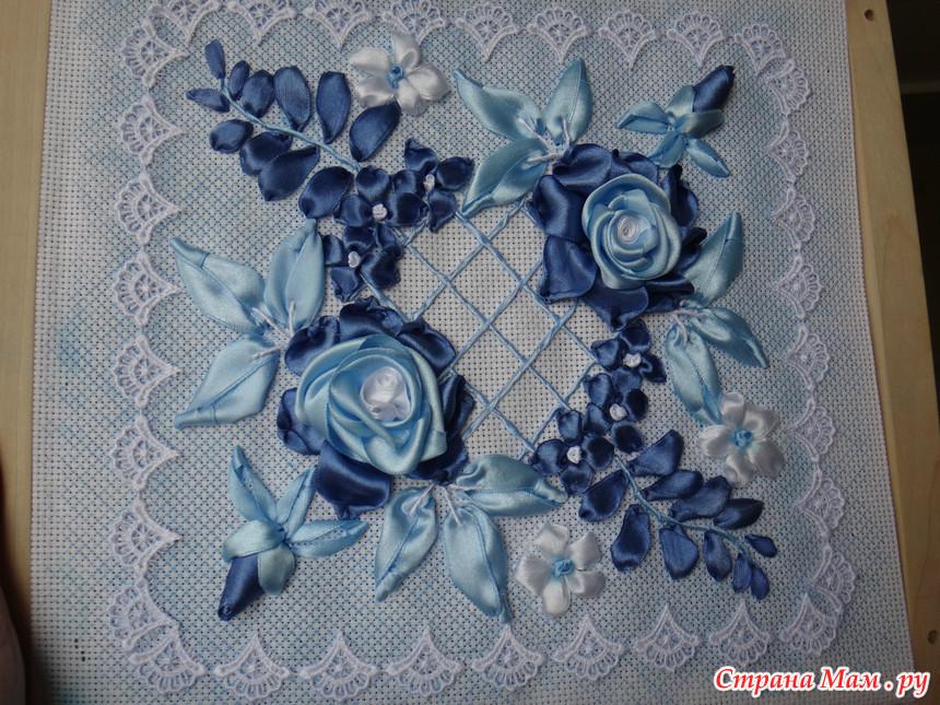Блузки с розочками из лент