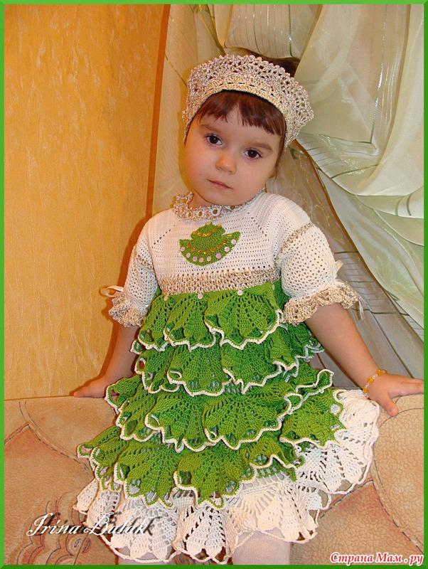 Вязаные костюмы для девочек своими руками