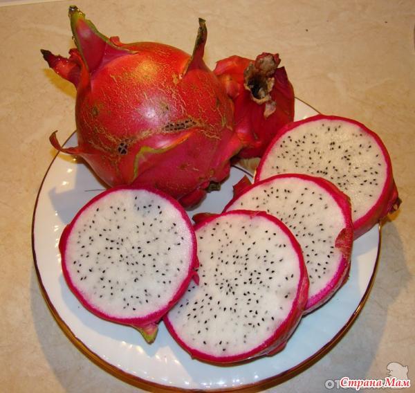 белый не знакомый мне фрукт