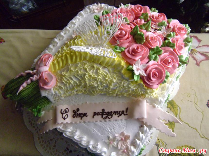 Торты в виде букета цветов фото