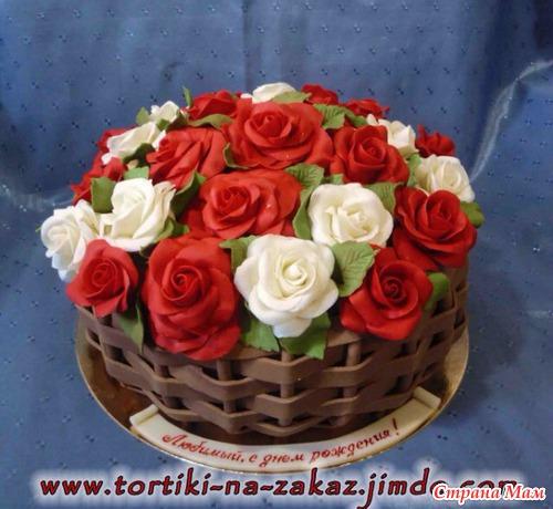 Фото тортов с цветами для мамы