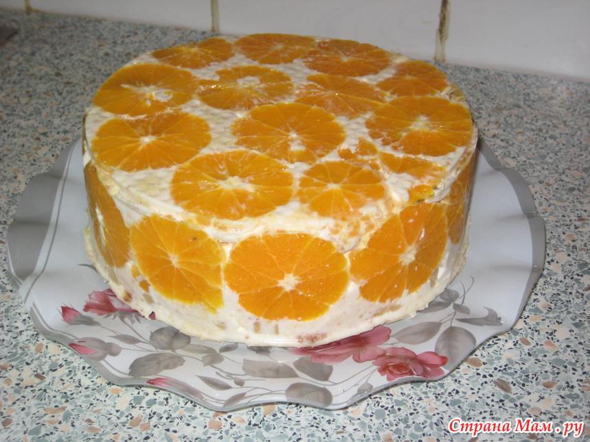 Рецепты бисквитных тортов с фруктами в домашних условиях 68