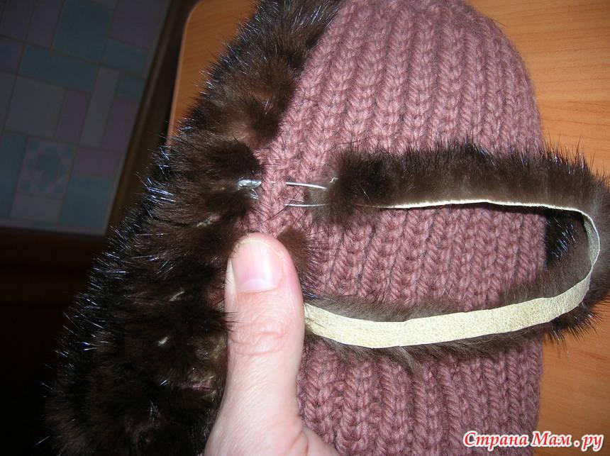 Как сделать вязанною шапку 992