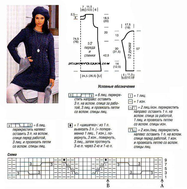 Как вязать платье с открытой спиной
