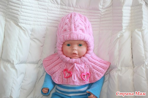 Шапка шлем связать новорожденный