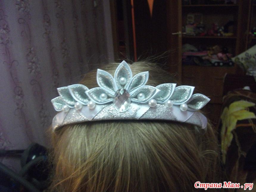 Новогодняя корона канзаши мк