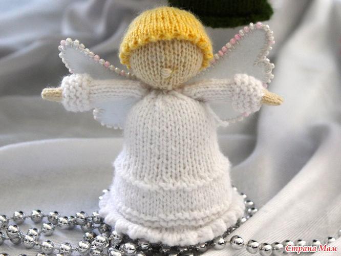 Вяжем ангелочка своими руками из ниток ирис 21