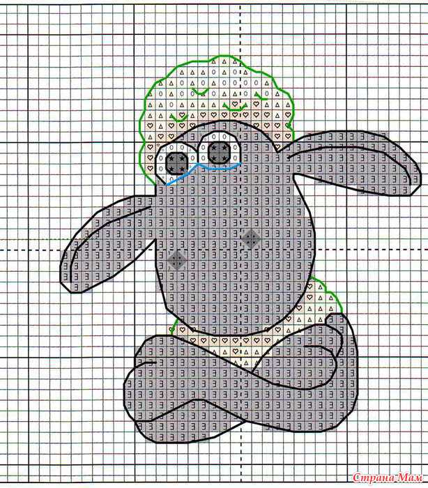 Схемы для вышивки барашек