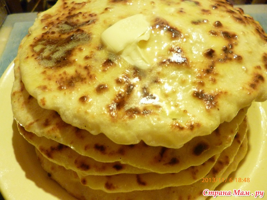 Лепешка с сыром и картошкой на кефире рецепт 170