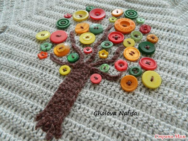 Как украсить вязаный свитер своими руками