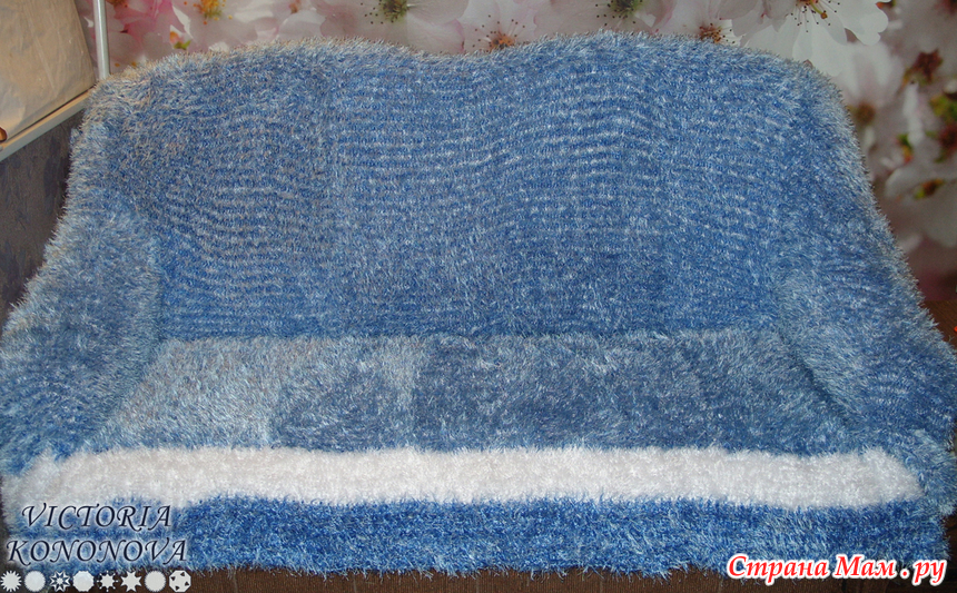 Вязание пледов спицами травка