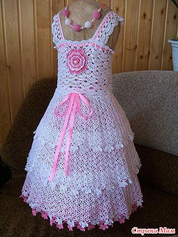 Пышное платье крючком на 2 года