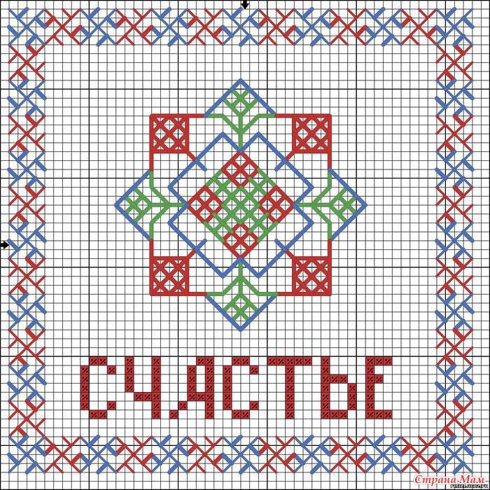 Вышивка крестом славянских оберёгов схемы