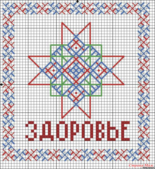 Схемы вышивки оберегов славянских