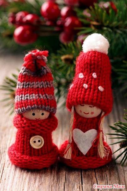 Новогодние вязанные украшения своими руками