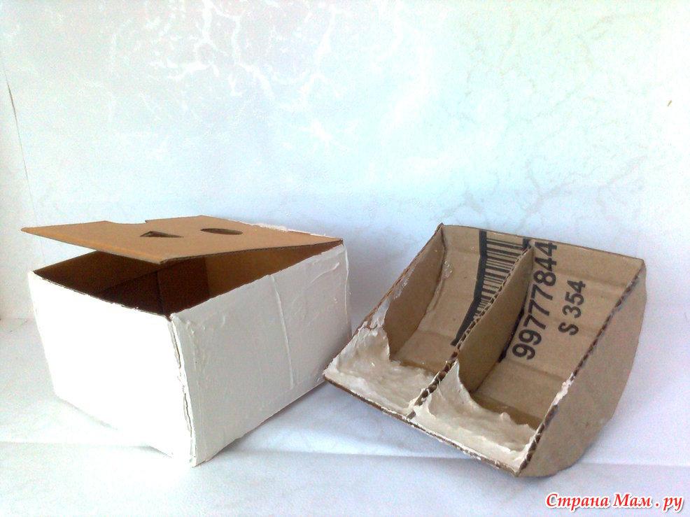 Шкатулка сундучок из картона
