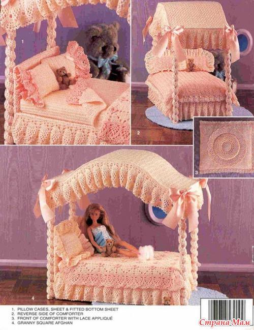 Как сделать кровать для барби своими руками видео