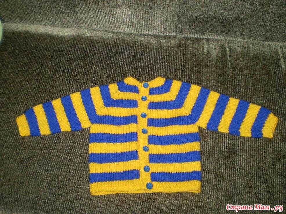 Вязание детская кофточка без швов 55