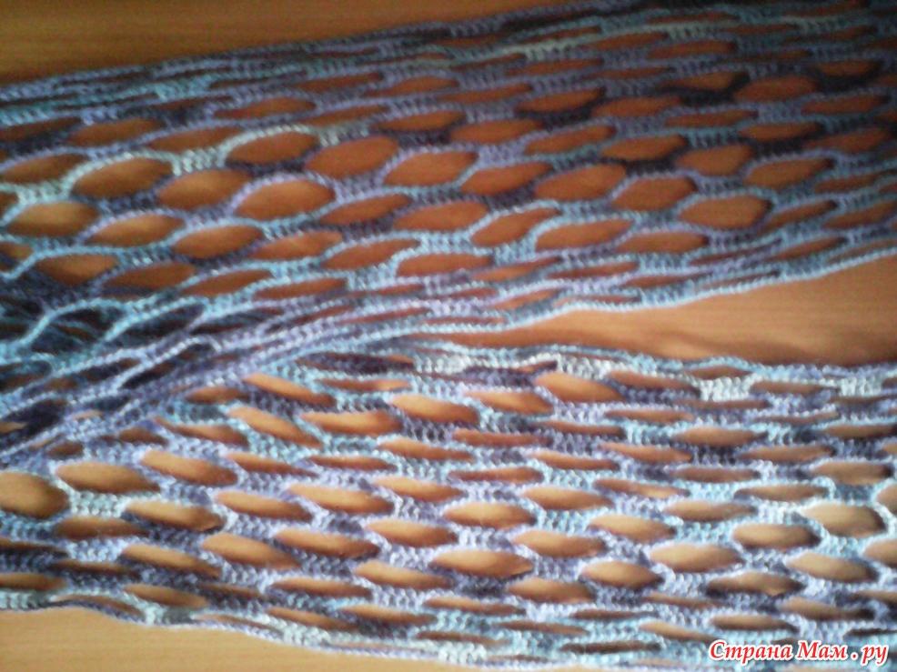 Ажурный шарф крючком. Схема: