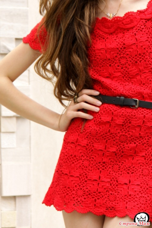 *Красное мини - платье