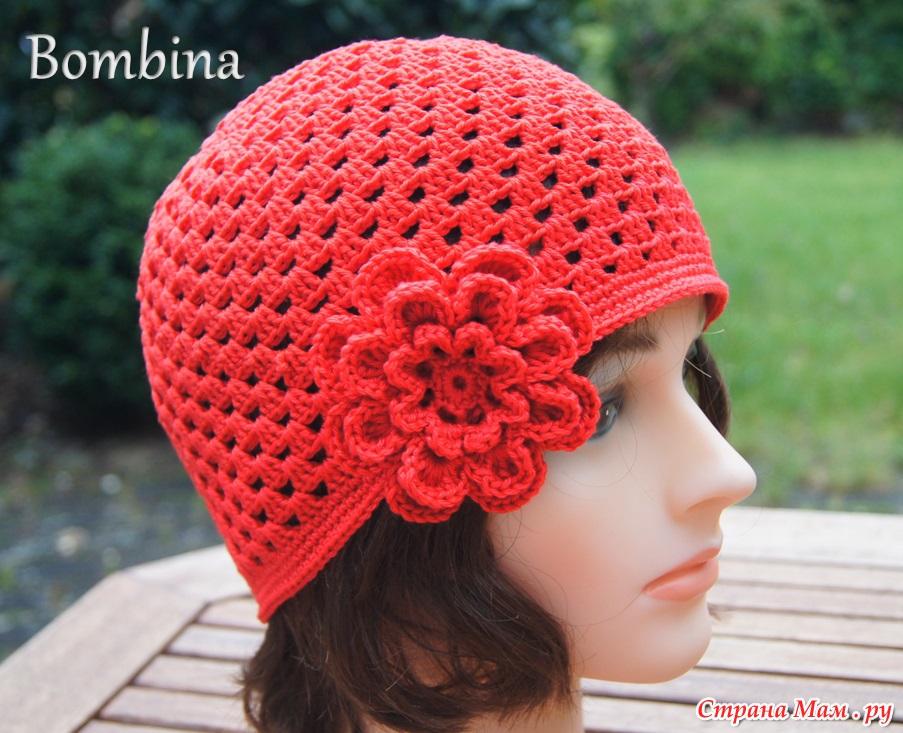 Вязание крючком для девочки шапки на весну
