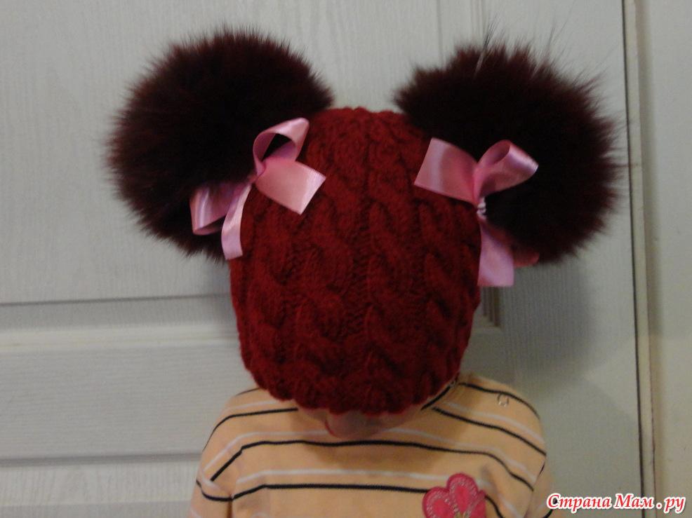 Вязание шапка с двумя помпонами - Шапка с помпоном спицами: вязание мужской и женской модели