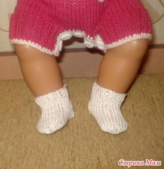 Как связать носочки для беби бона