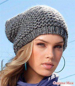 Вязание из толстых ниток шапки