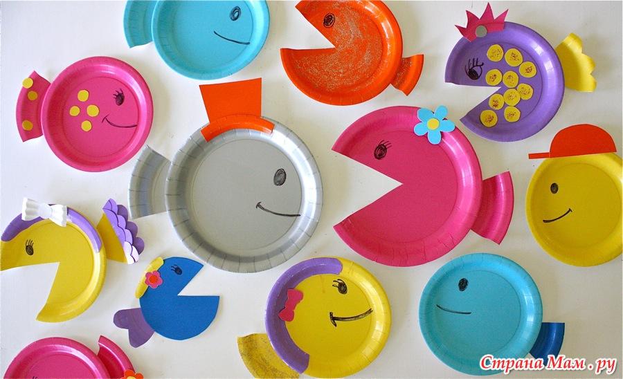 Все поделки из пластмассовых тарелок 548
