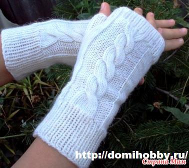 Схема перчаток с косой