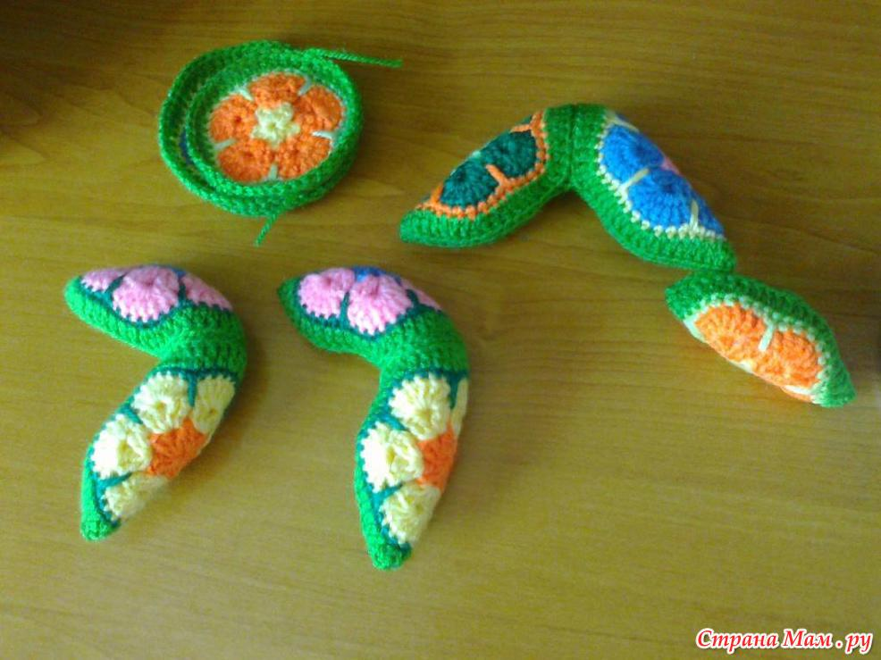Цветочная лягушка из мотивов