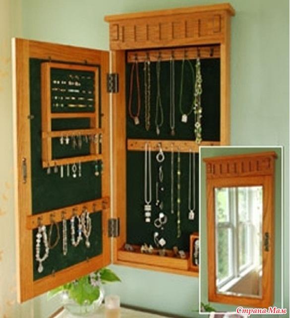 Для бижутерии своими руками шкаф