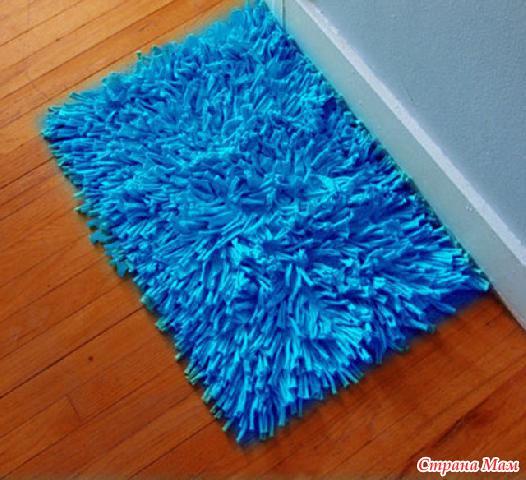 Как сделать коврик своими руками фото