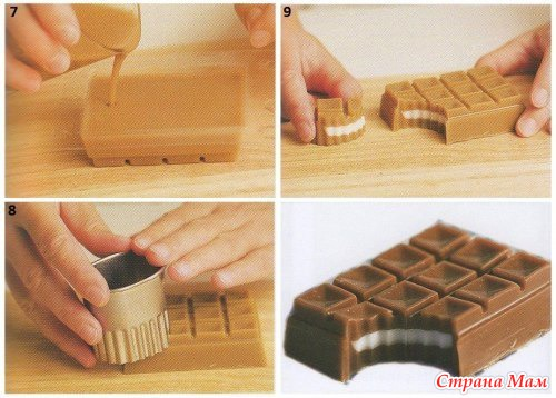 Шоколад своими руками в форме