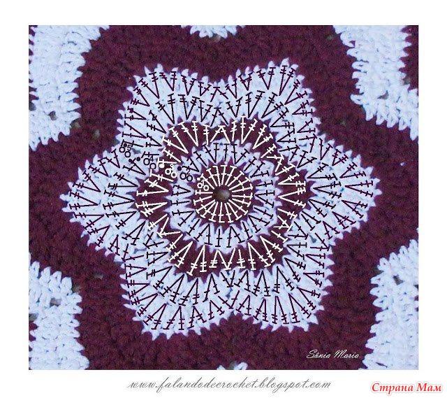 Вязание красивых ковриков с цветами крючком