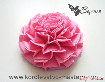Цветок из тесьмы: Гвоздика