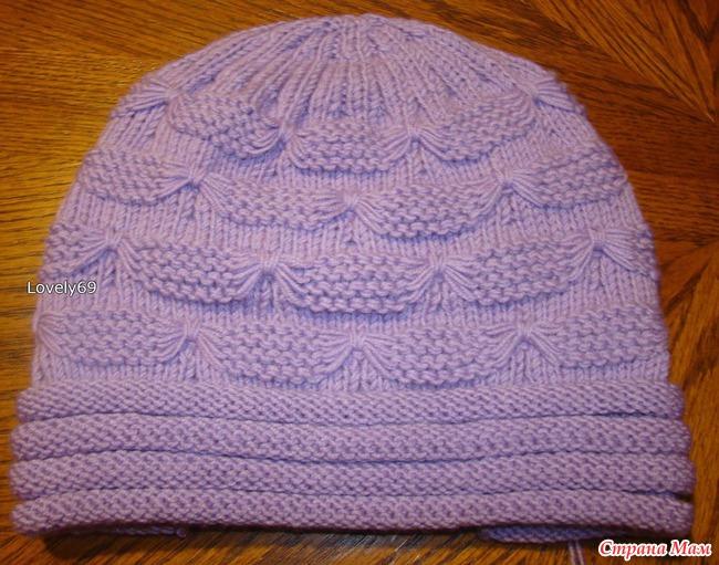 Вязание шапок с бабочками 144