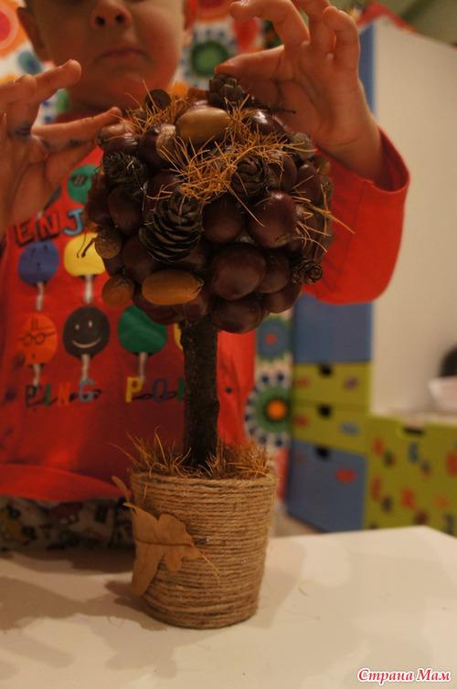 Поделка из лиственницы в детский сад