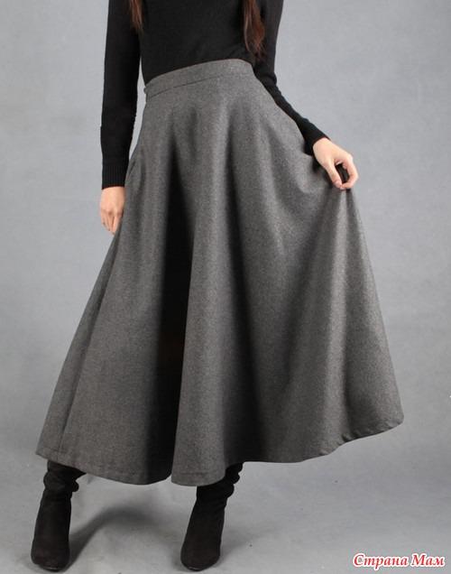 Сшить теплую юбку на зиму