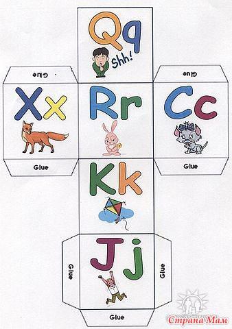 Английская азбука своими руками из бумаги
