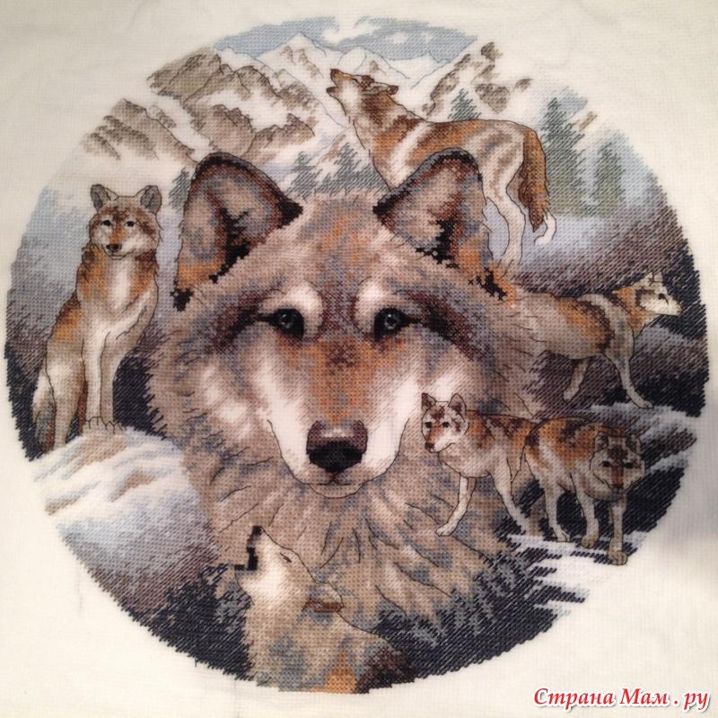 Что означает вышивка с волками