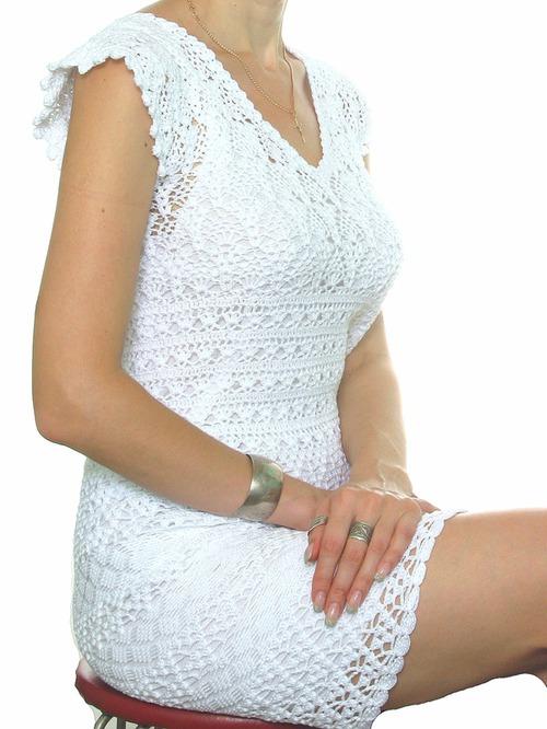 Платье Белое простое